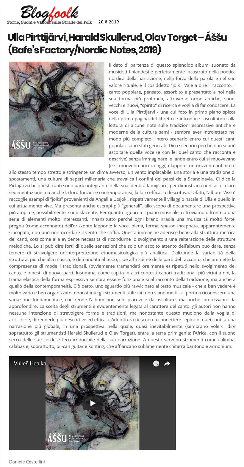 Blogfoolk (Italy), 20.6.2019