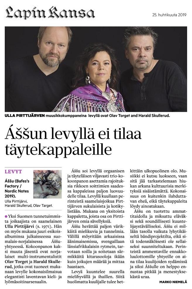 Lapin Kansa (Finland), 25.4.2019