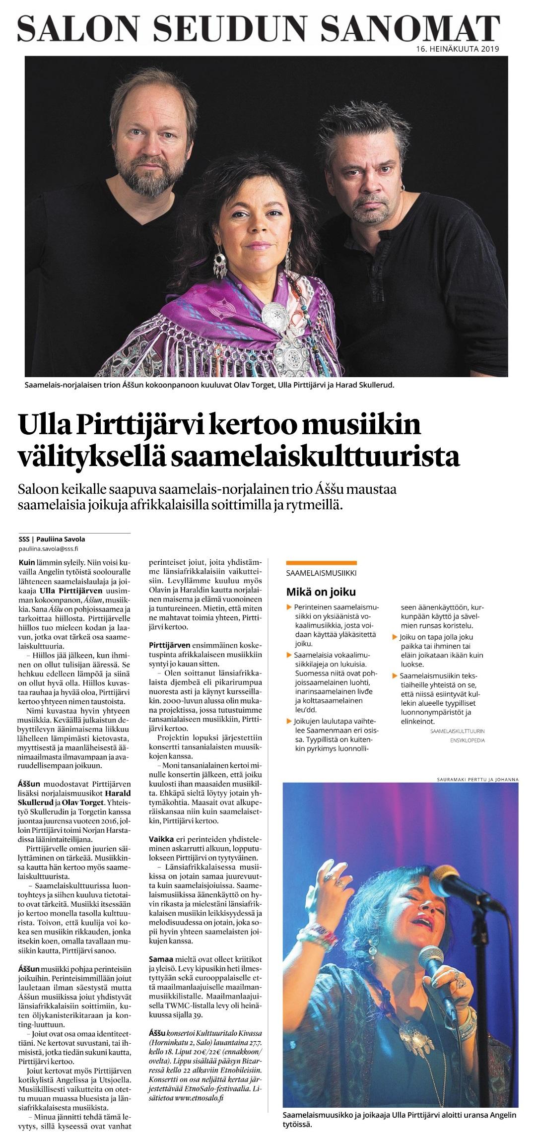 Salon Seudun Sanomat (Finland), 16.7.2019
