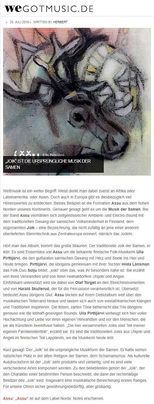 Wegotmusic.de (Germany), 25.7.2019
