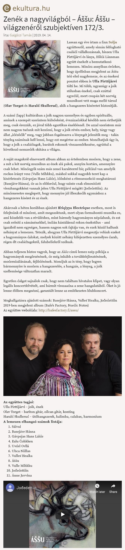 eKultura.hu (Hungary), 14.4.2019
