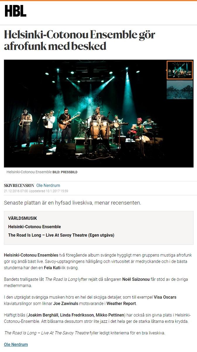 Hufvudstadsbladet (Finland), 21.12.2016