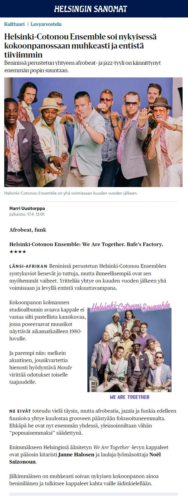 Helsingin Sanomat (Finland),17.4.2018
