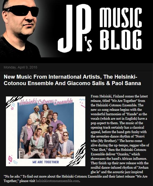 JP's Music Blog (USA), 9.4.2018