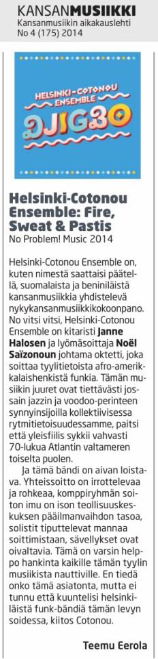 Kansanmusiikkilehti (Finland), 4/2014