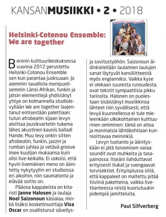 Kansanmusiikki-lehti (Finland), 2/2018