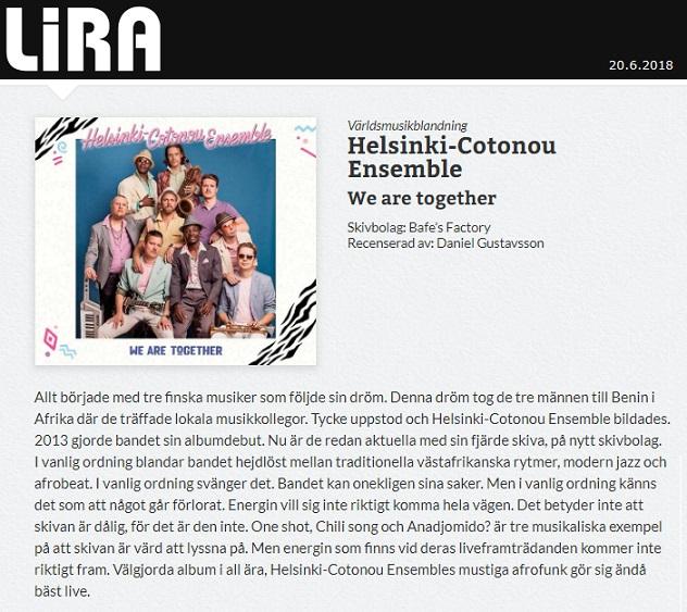 Lira Musikmagasin (Sweden), 20.6.2018