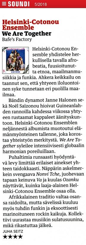 Soundi (Finland), 5/2018