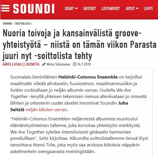Soundi, Soittolista (Finland), 24.7.2018