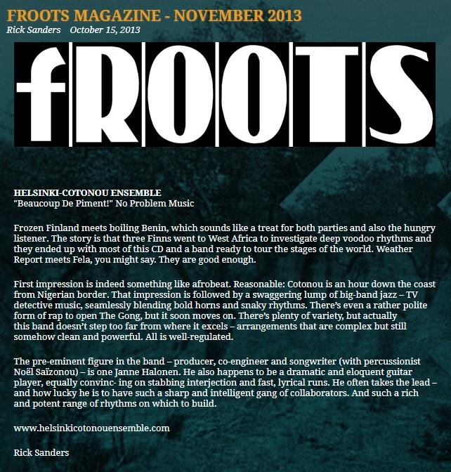 fRoots (UK), November 2013