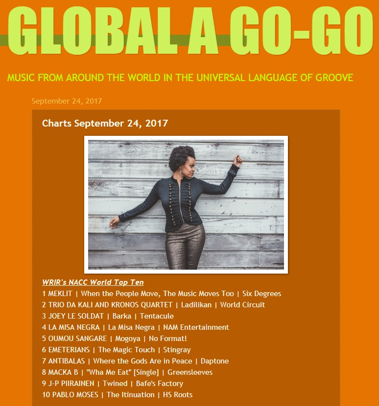 WRIR's NACC World Top Ten, Global a Go-Go (USA), 24.9.2017