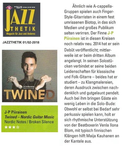 Jazzthetik (Germany), 01/02-2018