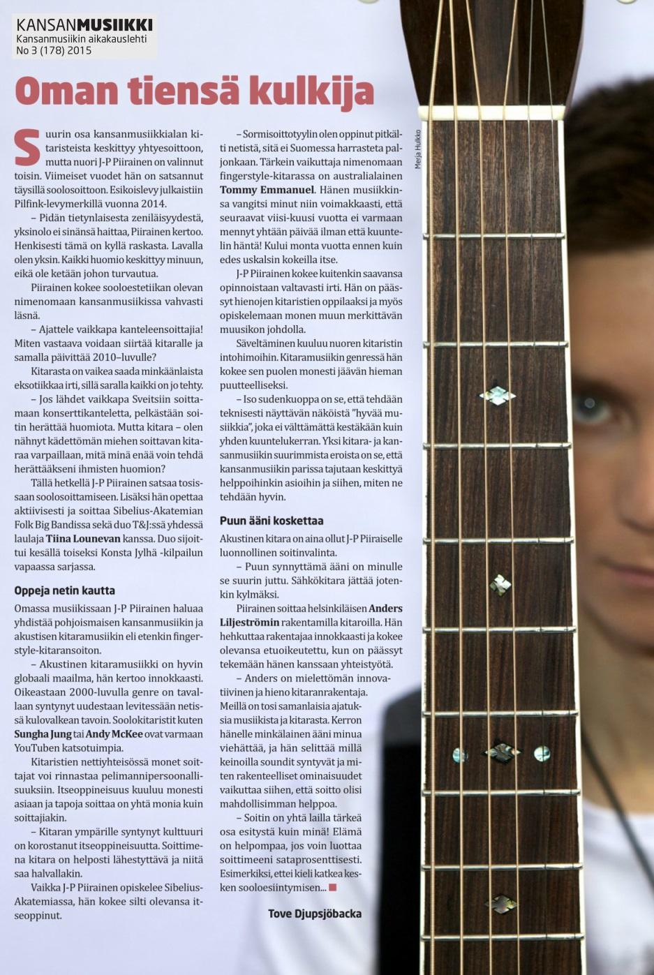 Kansanmusiikki (Finland), 3/2015