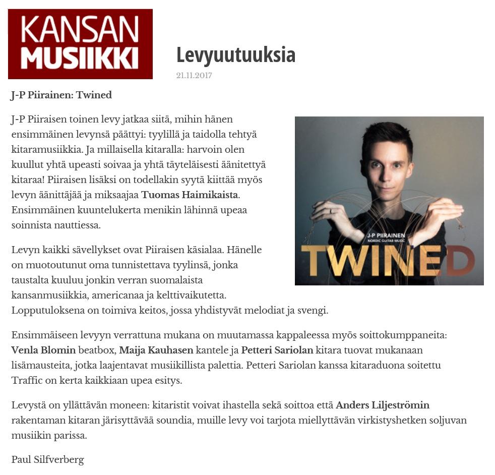 Kansanmusiikkilehti (Finland), 4/2017