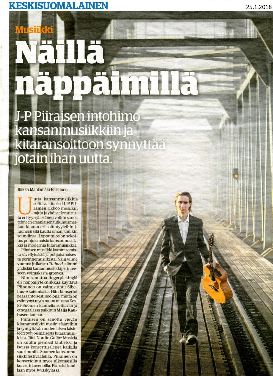 Keskisuomalainen (Finland), 25.1.2018