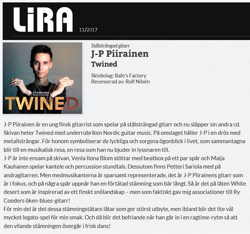 Lira Musikmagasin (Sweden), 11/2017