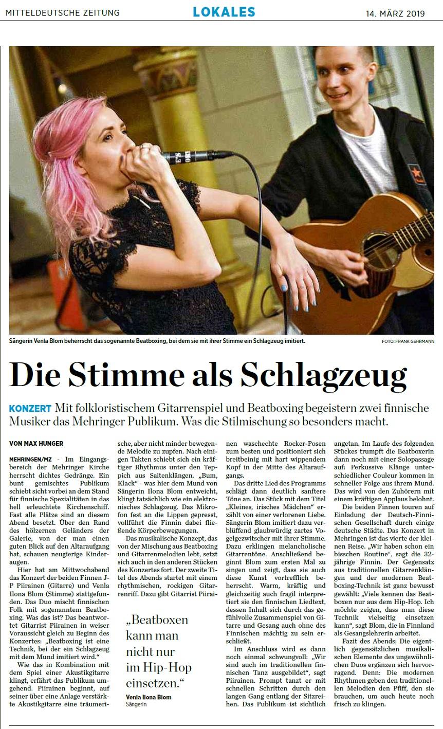 Mitteldeutsche Zeitung (Germany), 14.3.2019