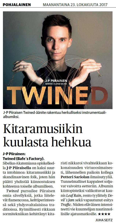 Pohjalainen, (Finland), 23.10.2017