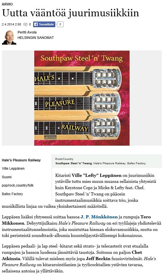 Helsingin Sanomat 2.4.2014