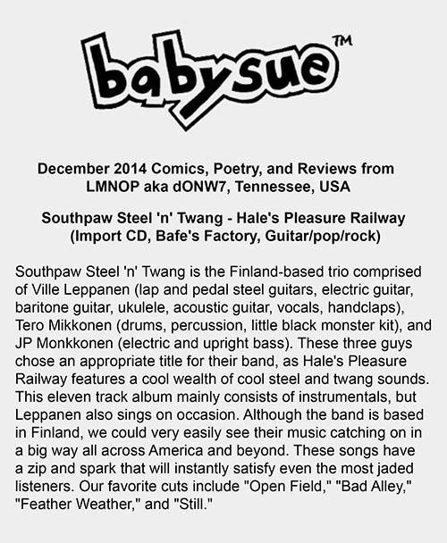 BabySue (Tennessee, USA), December 2014
