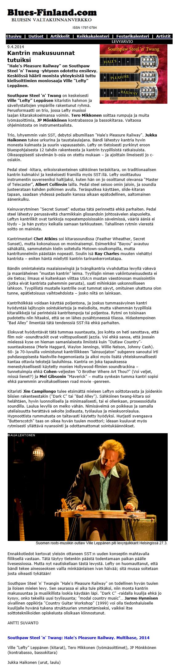 Blues-Finland 9.4.2014