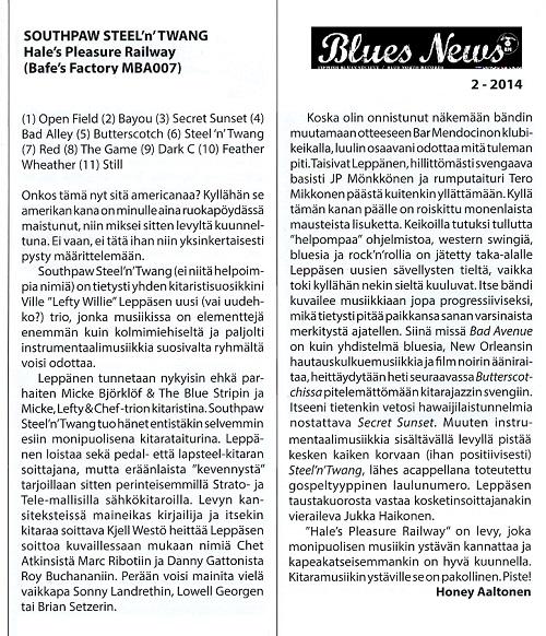 Blues News (Finland) 2/2014