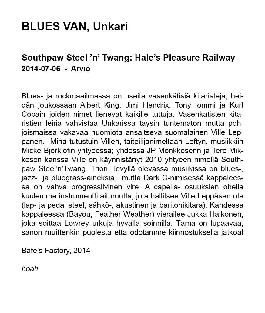 Blues Van (Unkari, suomeksi) 6.7.2014