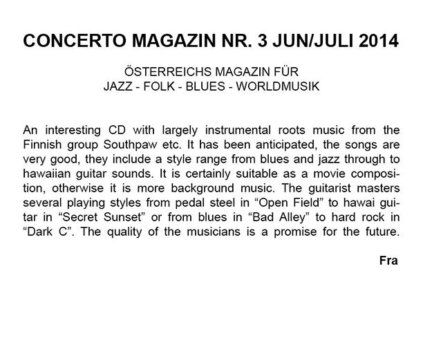 Concerto (Itävalta, Englanniksi) ) 3/2014