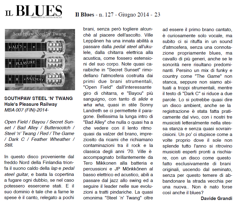 Il Blues (Italy) June 2014