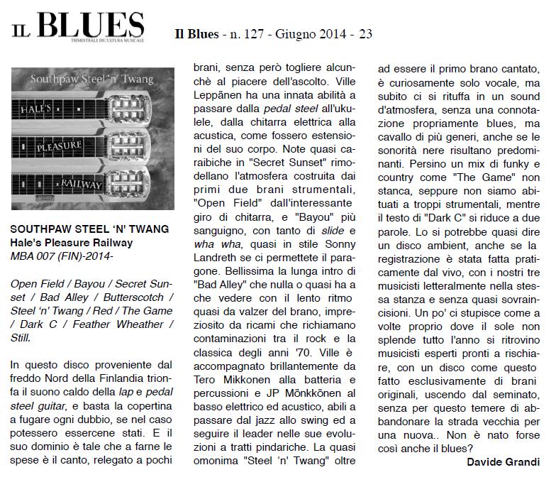 Il Blues (Italia) June 2014