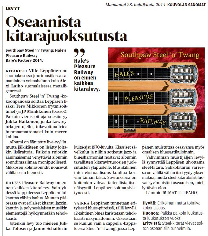 Kouvolan Sanomat 28.4.2014