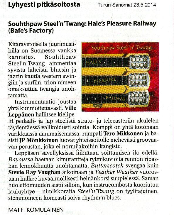 Turun Sanomat 23.5.2014