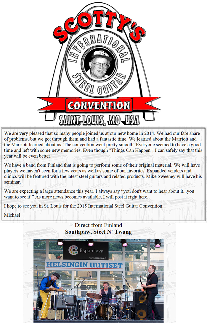 International Steel Guitar Convention, September 2015