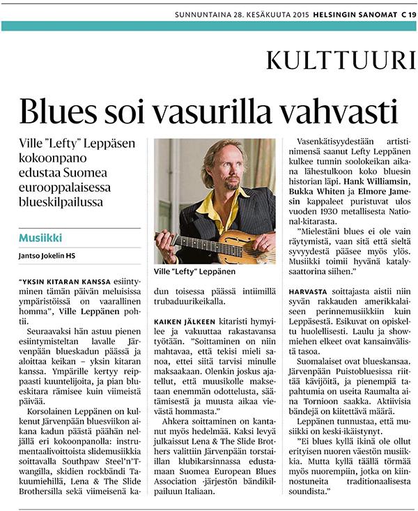 Helsingin Sanomat 28.6.2015