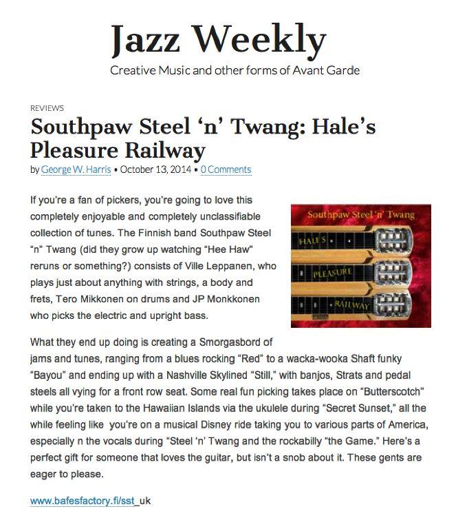 Jazzweekly.com, October 13 2014