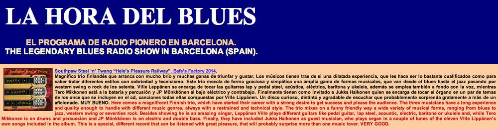 La Hora del Blues (Spain), February 2015