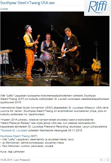 Riffi.fi -artikkeli 18.8.2015