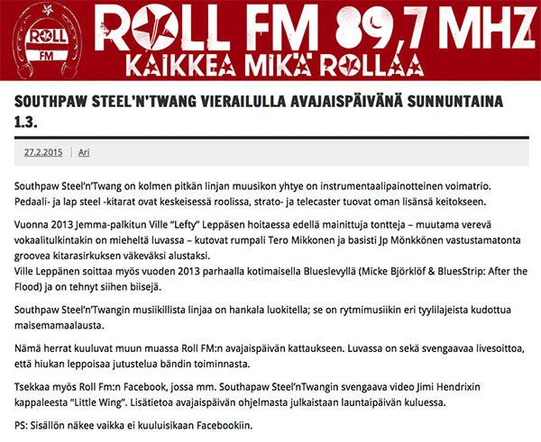 Roll FM, 89,7MHz, 1.3.2015
