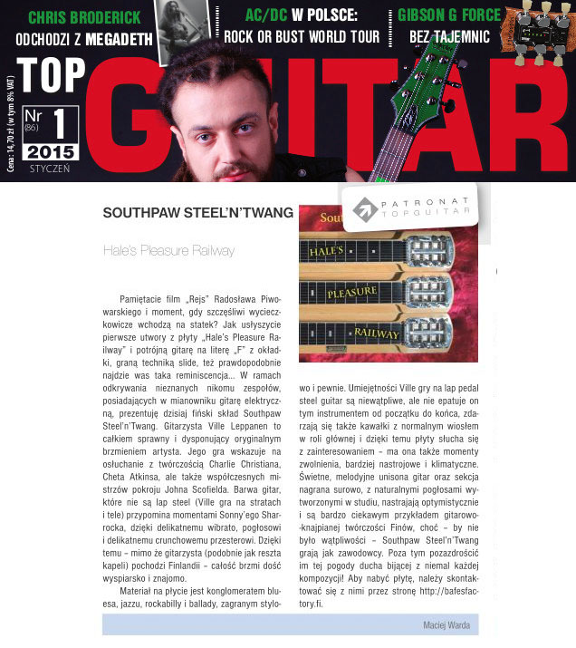 Top Guitar Magazine, February 2015