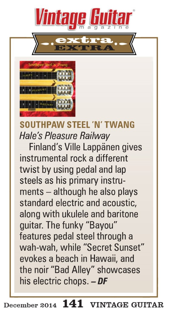 Vintage Guitar Magazine, December 2014