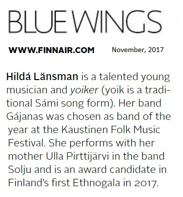 Blue Wings, (Finland), November, 2017