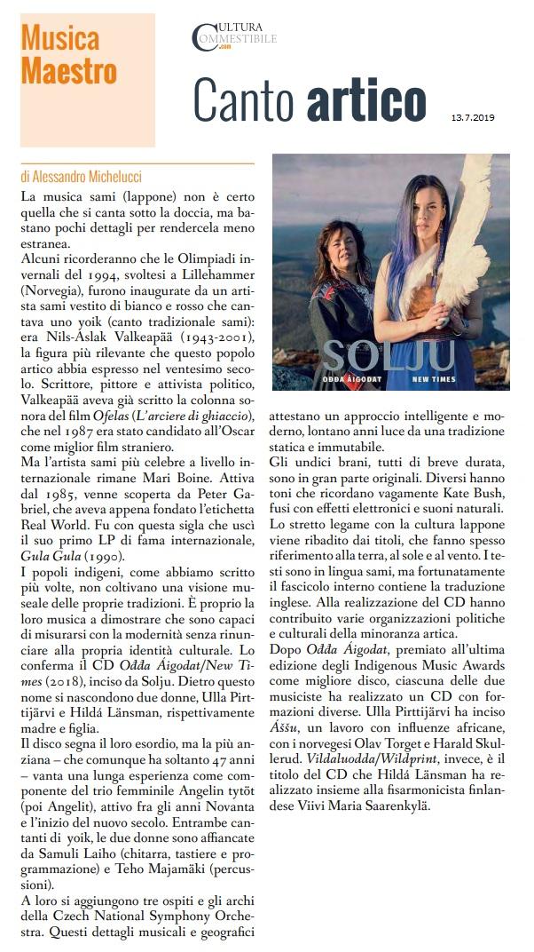 Cultura Commestibile (Italy), Numero 317, 13.7.2019