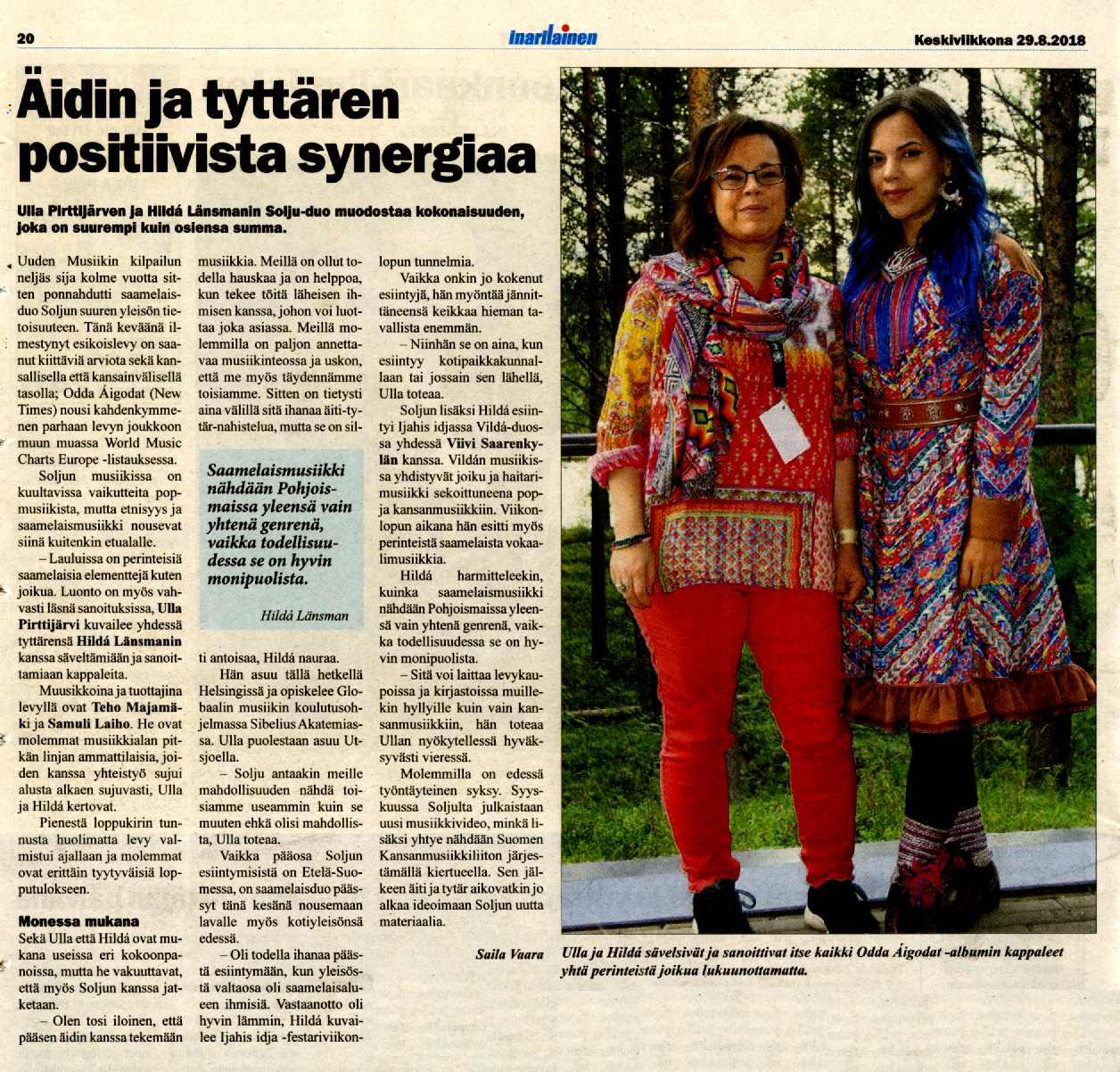 Inarilainen (Finland), 29.8.2018