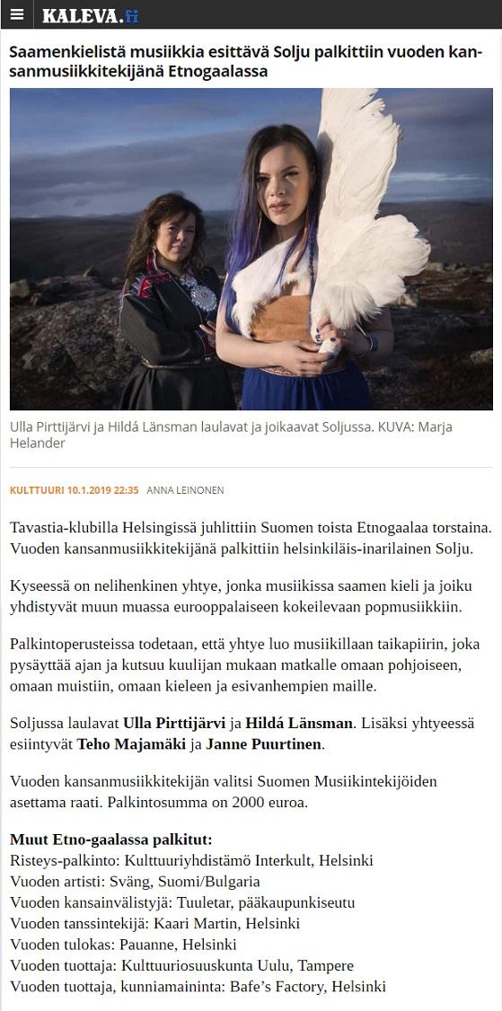 Kaleva (Finland), 10.1.2019