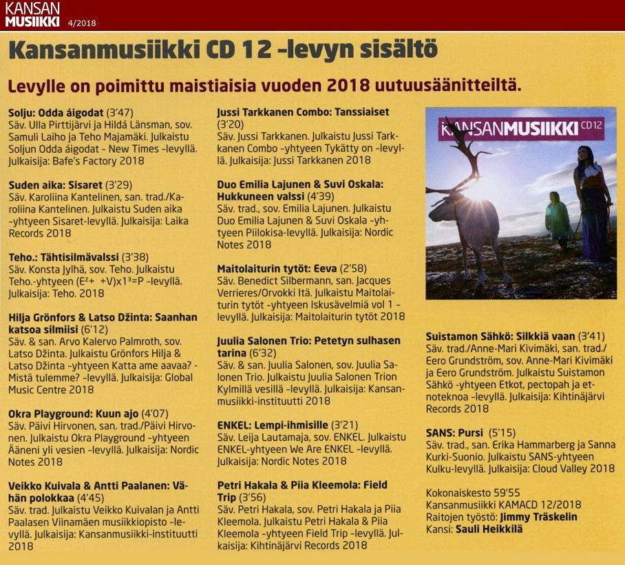 Kansanmusiikki-lehti (Finland), 4/2018