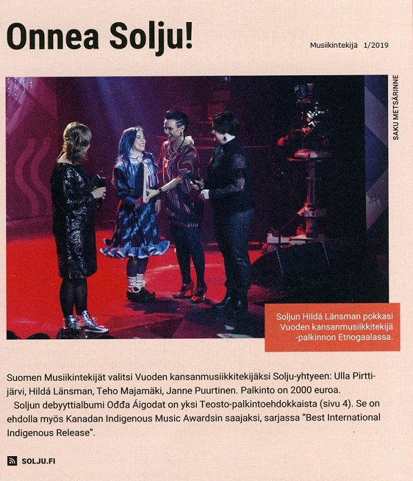 Musiikintekijä (Finland), 1/2019