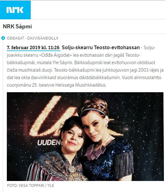 NRK Sápmi (Norway), 7.2.2019