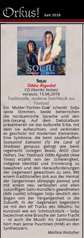 Orkus! Magazin, Review (Germany), Nr. 06 - Juni 2018