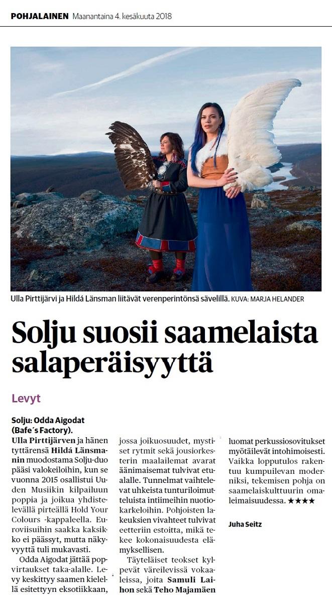 Pohjalainen (Finland), 4.6.2018