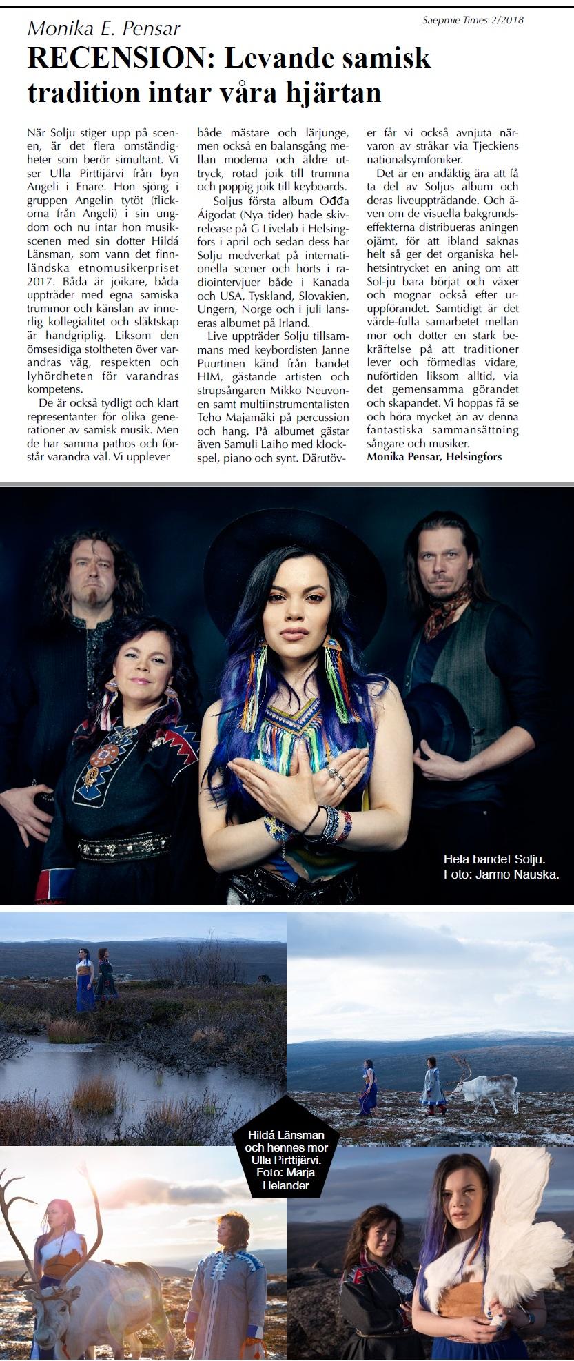 Saepmie Times (Sweden), Nummer 2, Juli 2018